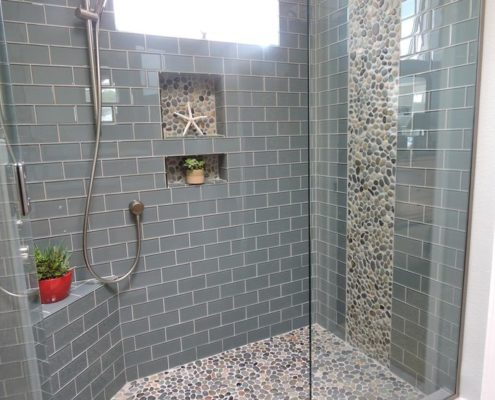 glass and ceramic tile bathroom showers delaware