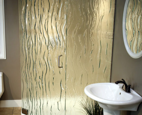 textured glass bathroom showers delaware